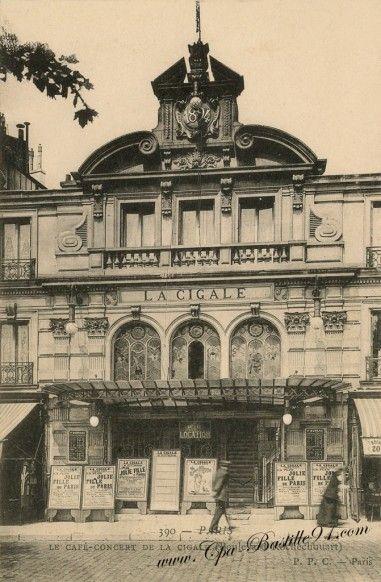 Le Café Concert de la Cigale - Paris - Boulevard Rochechouart - Cliquez sur la carte pour l'agrandir et en voir tous les détails