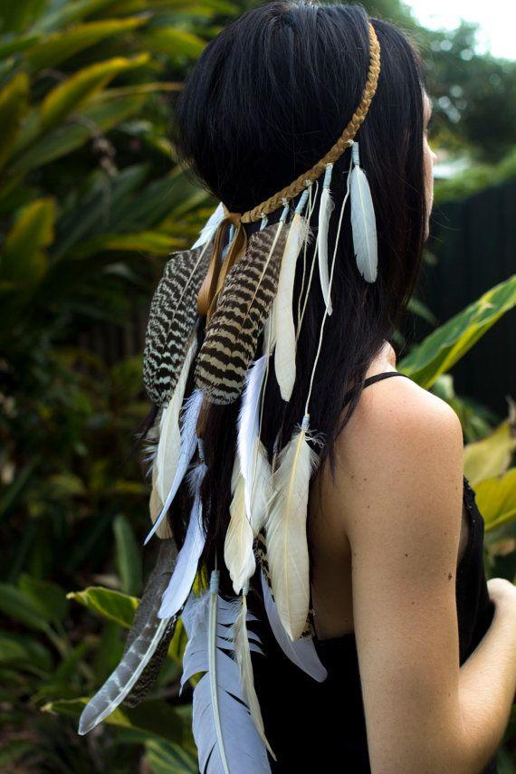 Boho feather headband - $70 from kargow.com