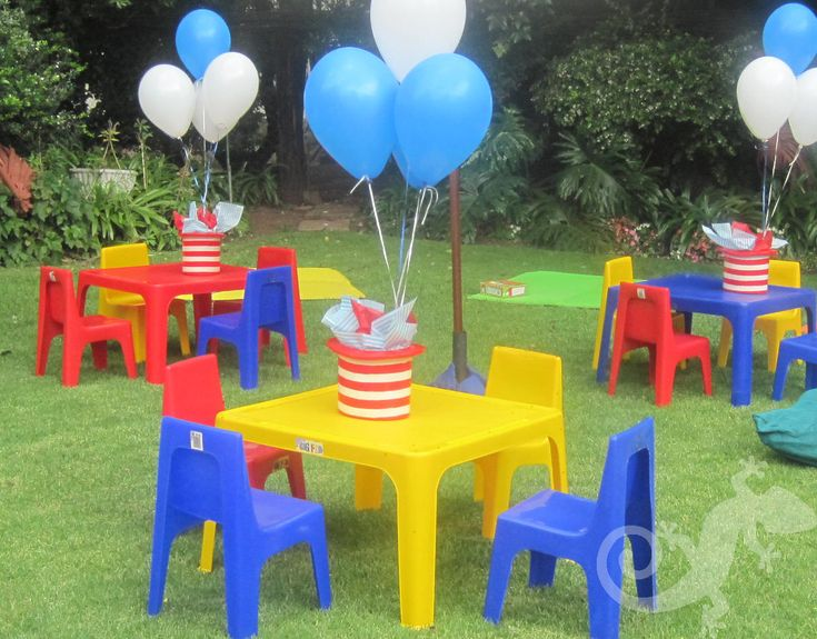 Baby, kids tables garden, baloons, kiddies