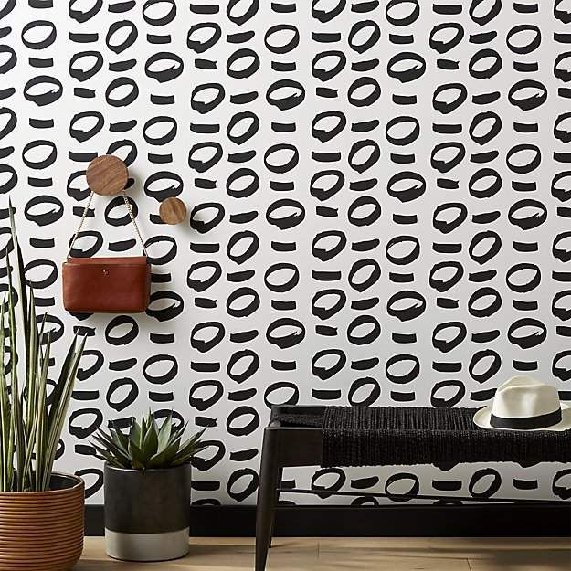 Love The Print Of The Wall Paper No Regrets Black And White Wallpaperoverview Different Strokes B Black And White Wallpaper White Wallpaper Unique Home Decor