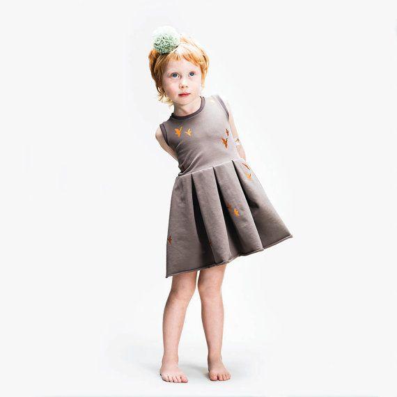 Copper Cranes Pocket Dress - Soft Jersey Dress by Swearhouse.  www.swearhouse.nl