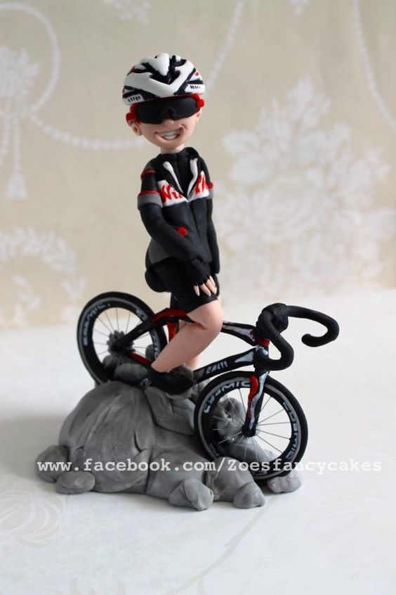 Cyclist - Cake by Zoe's Fancy Cakes