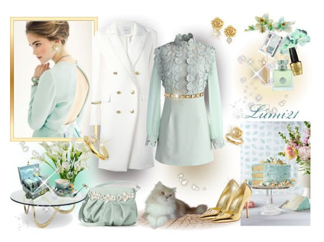 romantic .. by lumi-21 on Polyvore featuring Chicwish, Pierre Balmain, Jean-Michel Cazabat, Elle, Annello, Tiffany & Co., Shaun Leane, Natures Jewelry, ASOS and Clinique