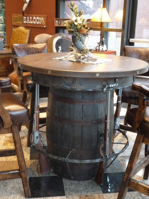 Charming Outlaw Pub Table. For The Man Cave!? I