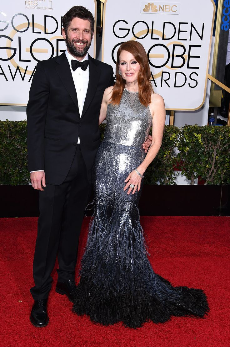 Julianne Moore and Bart Freundlich at the Golden Globes