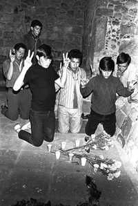 Paying homage to those who lost their lives in the massacre of Tlatelolco…