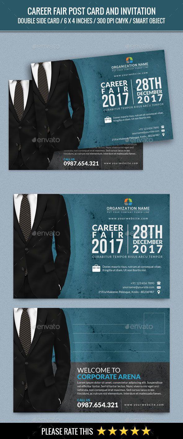 Poster design jobs - Career Fair Post Card