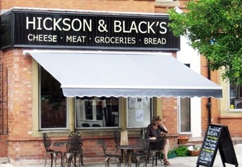 Hickson & Black's are a Chorlton deli selling great local cheeses, meats and fresh-baked bread