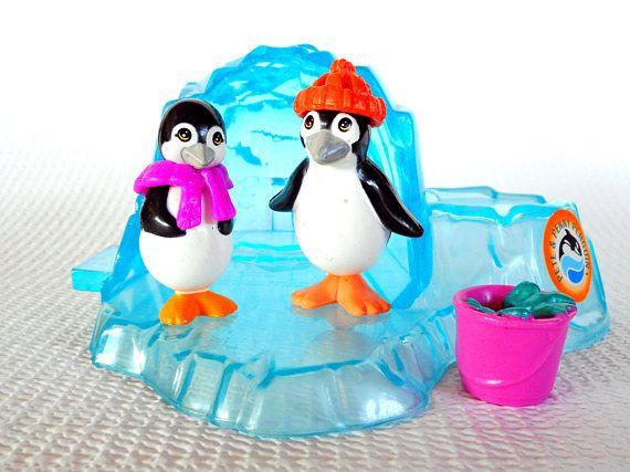 Vintage Littlest Pet Shop Pete Penny Penguin With Icy Igloo Littlest Pet Shop Doll House Pets Pet Shop