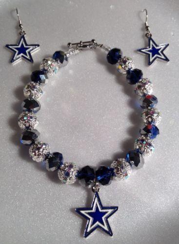 Dallas Cowboys Bracelet & Earring Set