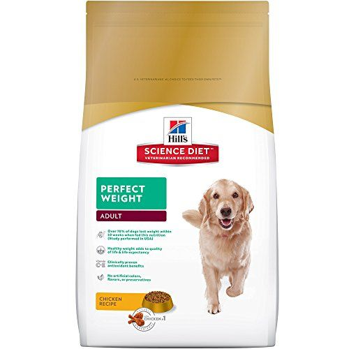 Hill's Science Diet Adult Perfect Weight Chicken Recipe Dry Dog Food, 28.5 lb bag - Hill's Science Diet Perfect Weight dog food provides breakthrough nutrition formulated to help your dog achieve a healthy weight and improved quality of life. Just like for humans, extra weight can lead to health issues. Help your dog trim the pounds with Perfect Weight Chicken Recipe dry ...