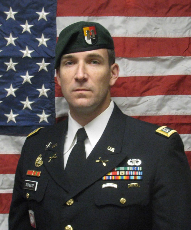 Army Capt. Joseph W. Schultz  Died May 29, 2011 Serving During Operation Enduring Freedom  36, of Port Angeles, Wash., assigned to the 3rd Special Forces Group, Fort Bragg, N.C.; died May 29 in Wardak province, Afghanistan, of wounds sustained when enemy forces attacked his unit with an improvised explosive device.