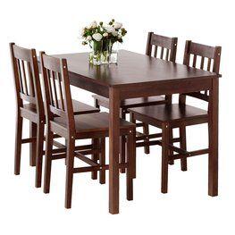 Stôl + 4 stoličky TYLSTRUP farba kávy