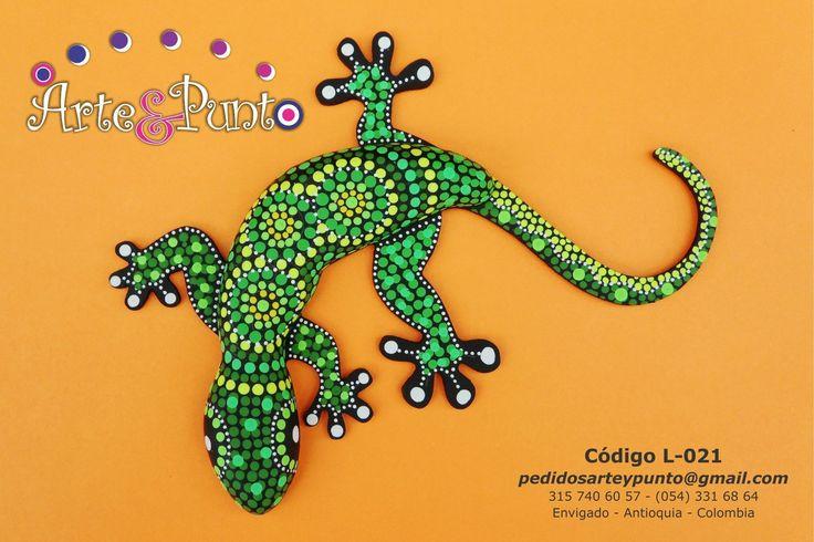 #puntillismo, #lagartijasenpuntillismo, #decoraciónenpuntillismo, #pintadoamano