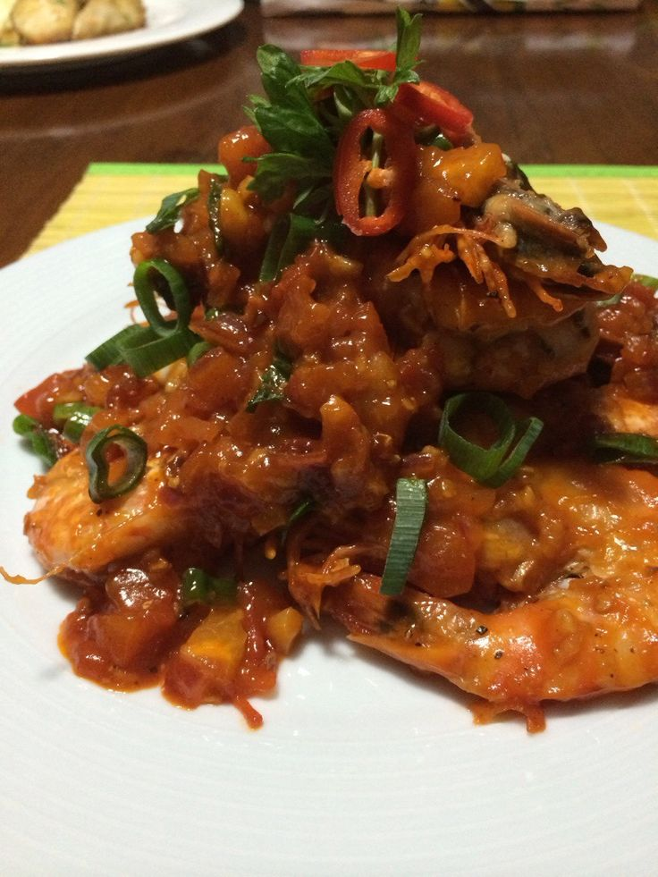 Chilli Prawns - absolutely delicious!