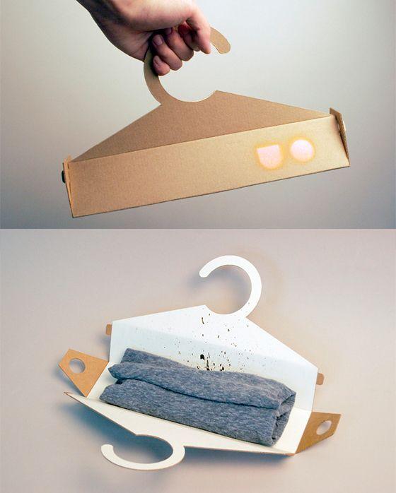 Hanger pack T-shirt Packaging #packaging #cleverdesign