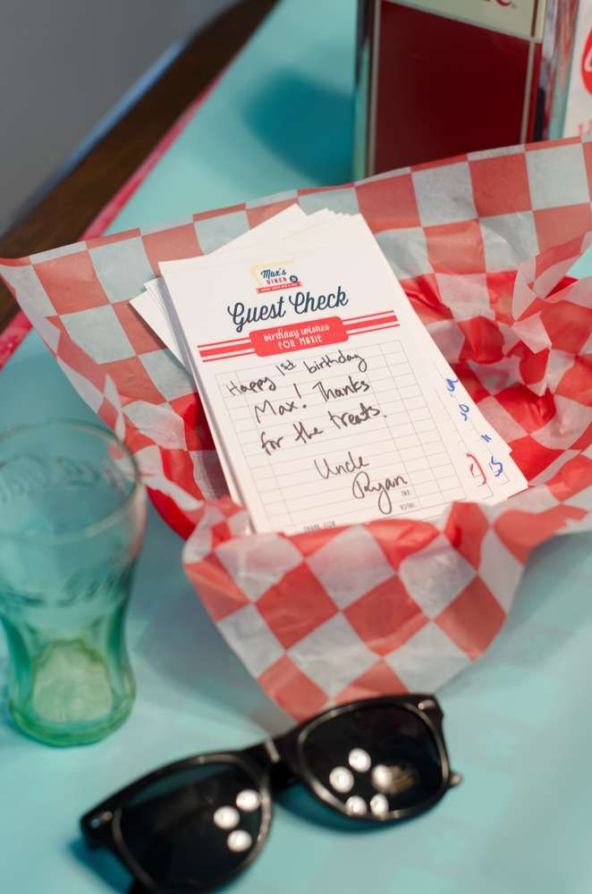 50s Diner Soda Shop 1st Birthday | CatchMyParty.com