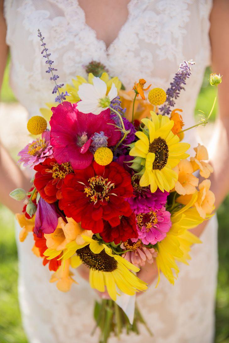 DIY Wildflower Bridal Bouquet | Jamie Beth Photography https://www.theknot.com/marketplace/jamie-beth-photography-louisville-co-766286 | Brilliant Bridal Denver https://www.theknot.com/marketplace/brilliant-bridal-denver-denver-co-632371