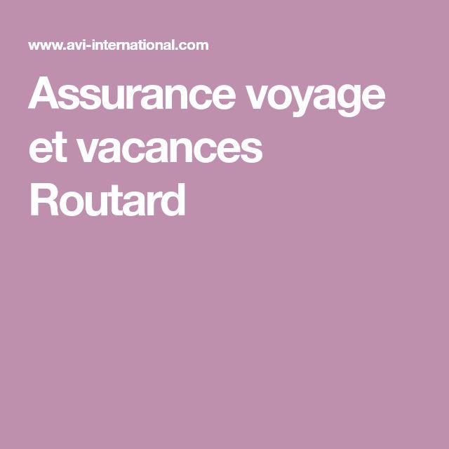Assurance voyage et vacances Routard