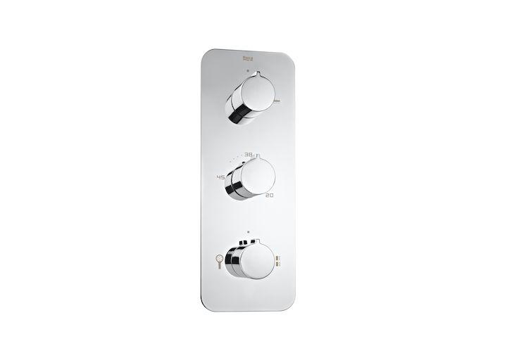Mezclador termostático empotrable para ducha con desviador de 3 vías | Puzzle | Duchas y columnas | Soluciones ducha | Colecciones | Roca