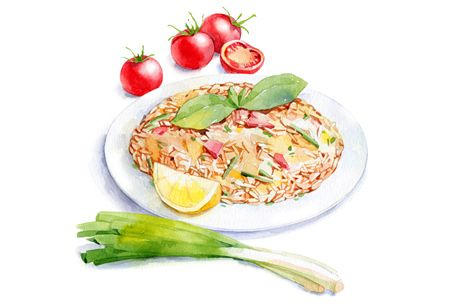 watercolor food for Afisha-Eda on Illustration Served