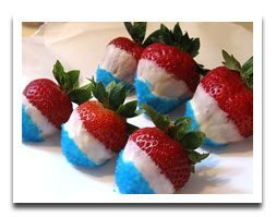 how funDesserts Recipe, Blue Food, Strawberries Desserts, Fourth Of July, 4Th Of July Food Crafts, Red White Blue, July Strawberries, Patriots Strawberries, Chocolates Covers Strawberries