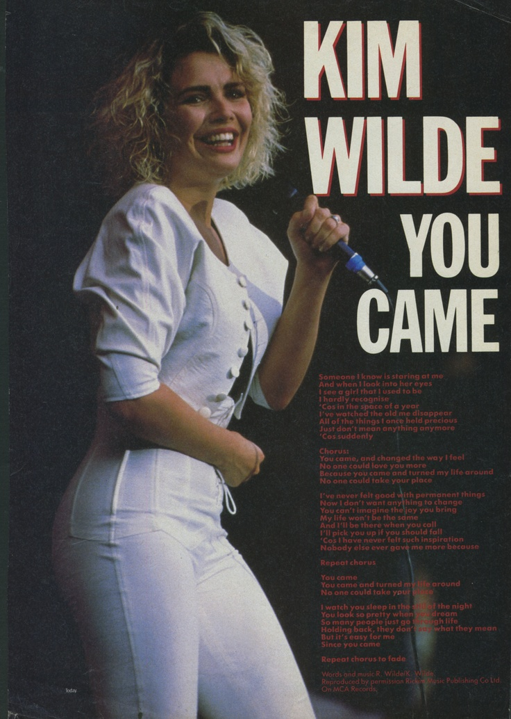 You came - Taken from: Number One (UK), August 6, 1988