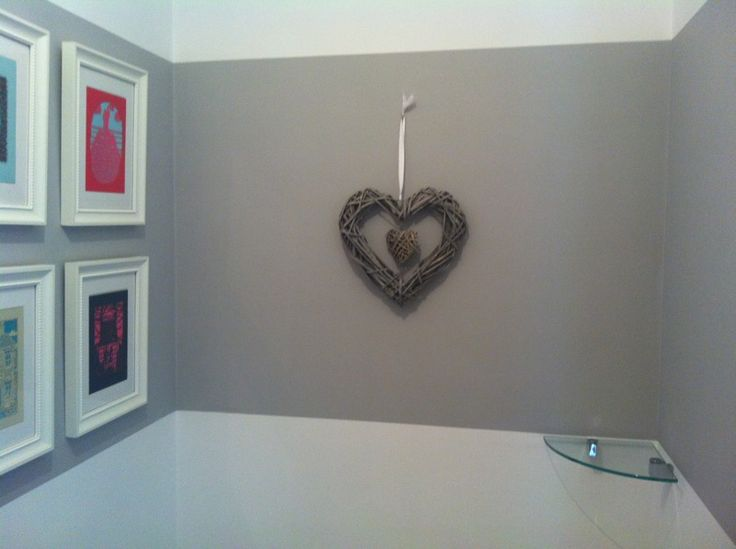 B and m wicker heart grey paint chic shadow from dulux for Dulux boys bedroom ideas