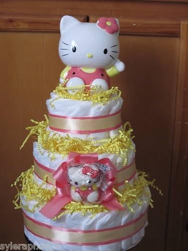 Love! Cake BabyPiggy BanksDiaper CakesBaby GiftsHello Kitty