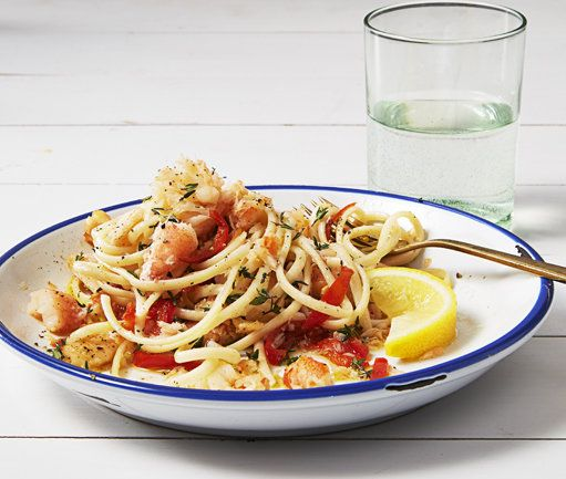 Lemony Crab Linguine