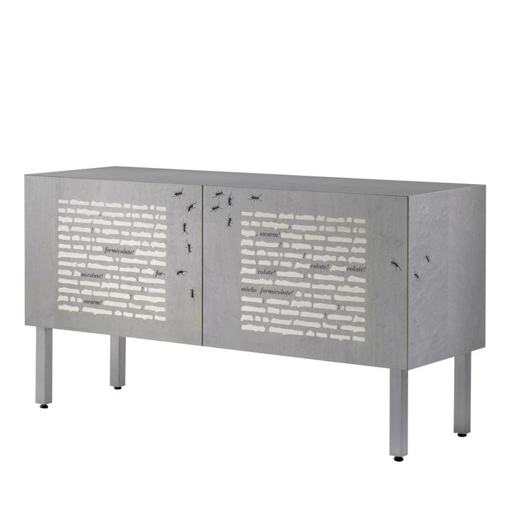 Le formiche nere Intarsia sideboard by Emilio Isgrò - Shop Laura Meroni online at Artemest
