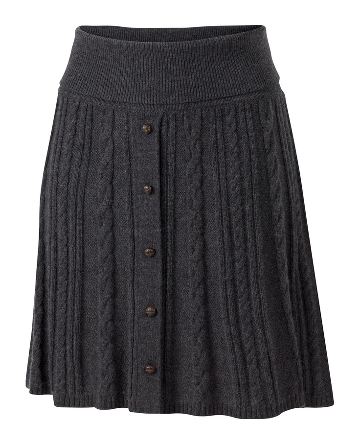 Large image of Kelly Cable Knit Skirt - opens in a new window