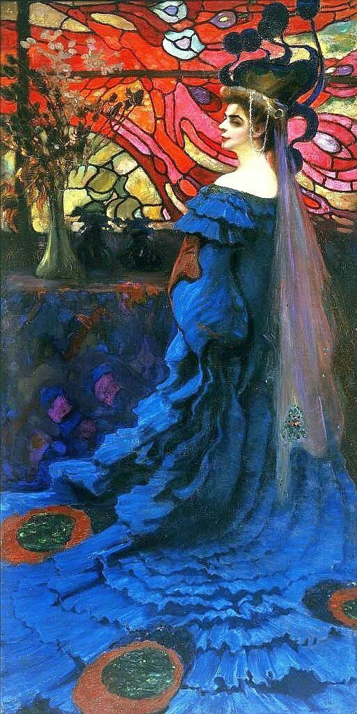 Kazimierz Stabrowski, 1908, By the stained Glass window