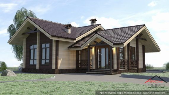 Баня из клеёного бруса, фото | Дизайн дома, Дом, Фасады домов