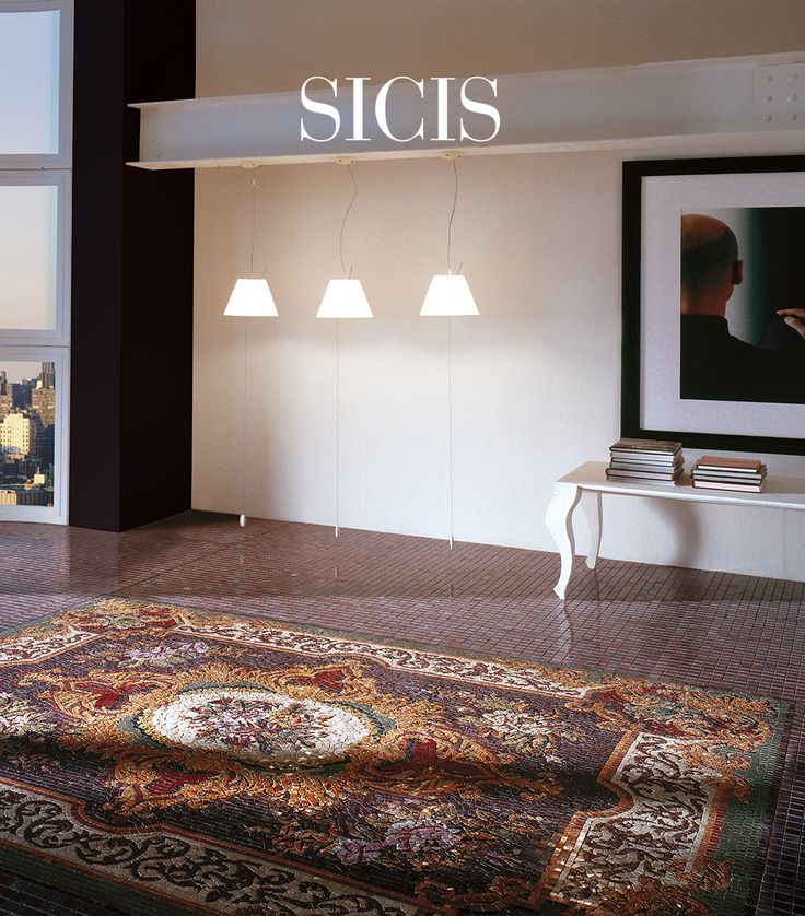 Sicis Rug collections draw inspiration from mosaic representing rugs.