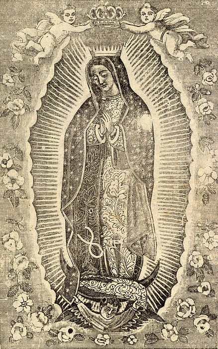 Detail of the Virgin of Guadalupe photograph