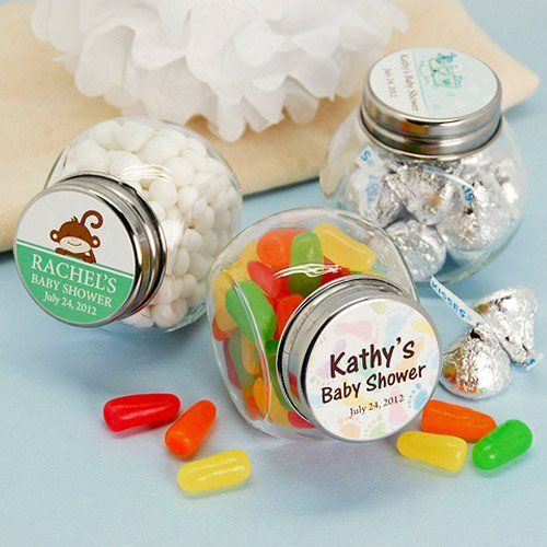 Personalized Baby Shower Mini Candy Jar Favor by Beau-coup