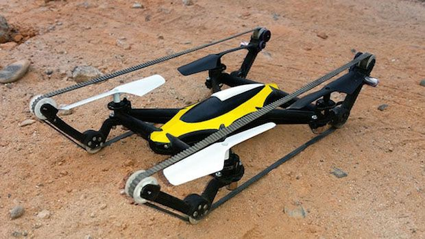 Land & Air Drones! Tank Quadcopter Drone