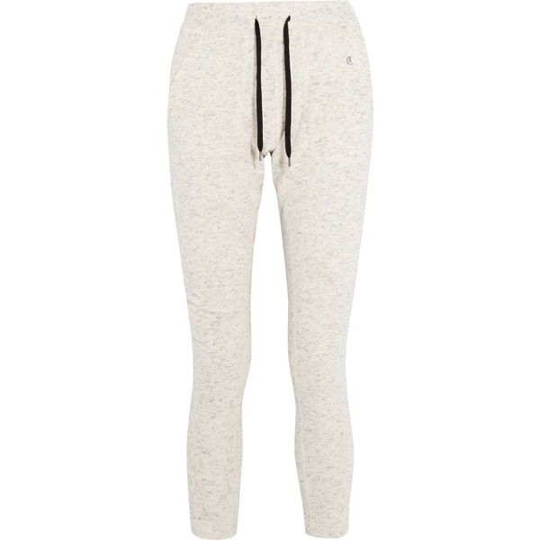 TODD SNYDER + CHAMPION   Nolita cotton-blend track pants ($70) ❤ liked on Polyvore featuring activewear, activewear pants, champion activewear, track pants and champion sportswear