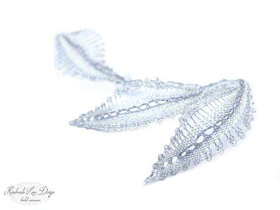 ♥♥ ♥ ♥ Romantic Bobbin Lace Wedding hair comb with Swarovski Crystal Elements. ♥ ♥ ♥ ♥  The Lace Head Piece can be worn multiple ways with multiple hair styles.    These wedding hair accessories are the perfect finishing touch for brides and bridesmaids ♥   comfortable to wear and easy to style. - Available in Silver as shown or Gold  - Everything is fabricated in Swansea studio by hand - Please allow 1 week for productions plus transit time for delivery - Sales on this item are final. No…