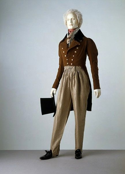 1820-30: Cossack trousers were introduced to Britain in 1814 when Tsar Aleksandr I travelled to London from Russia for the peace celebrations that followed Napoleon Bonaparte's abdication in April of that year