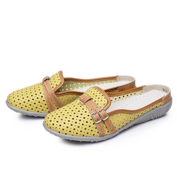 Women Slipper Sandals Flats Shoes Comfortable Soft Casual Hollow Out Beach Flats - US$17.89