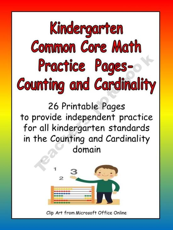 common core standards writing kindergarten