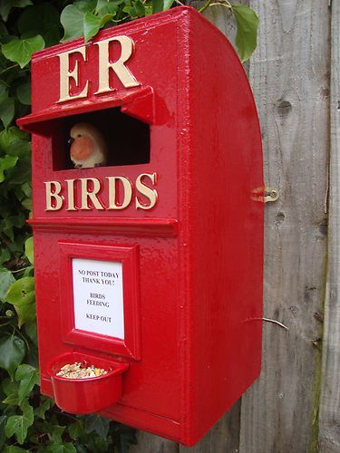 royal mail bird box :bird feeder :bird table .gift or present - ebay!