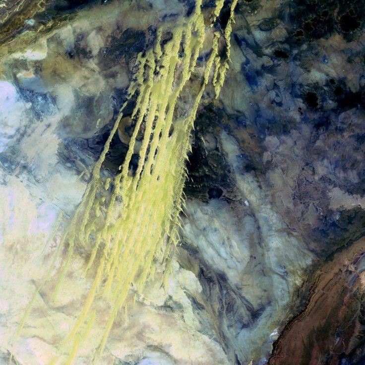 beauty: Wind Blown Sand, Northwestern Africa, Erg Iguidi, Dunes Extending, Pale Yellow, Earth, Algerian Abstract