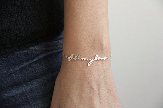 Custom Signature Bracelet | Capucinne | I would love one with my grandmother's signature