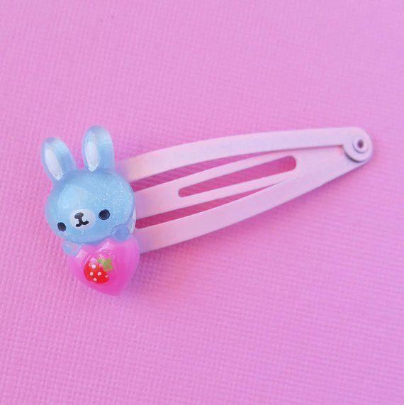 Pink And Blue Bunny Hair Clip Cute Rabbit Hair Clips Easter Hair Clip Cute Spring Hair Clips Kawaii Fairy Ke Kawaii Hair Clips Hair Clips Girls Bow Hair Clips