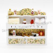 макияж деревянный комод миниатюрный 1:12 красоты кукольный домик игрушка девочка декор Рождественский подарок