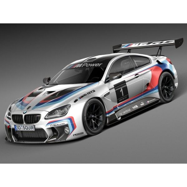 Bmw Wallpapers And Backgrounds: BMW M6 GT3 2016 - 3D Model