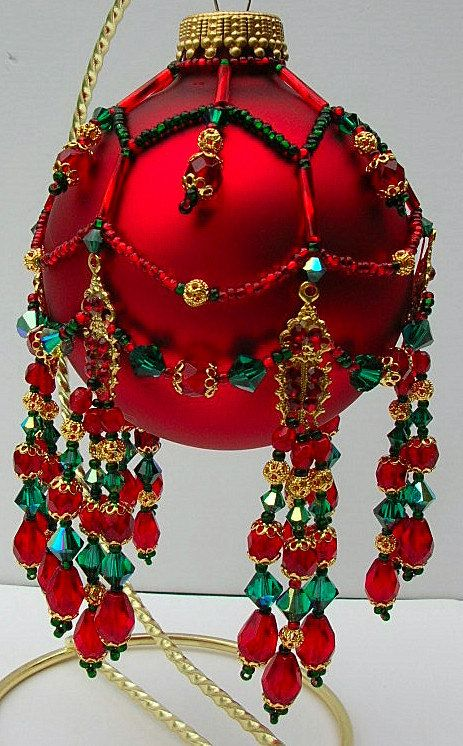 Pattern for Beaded Christmas Ornament by MoonGoddessJewellry: